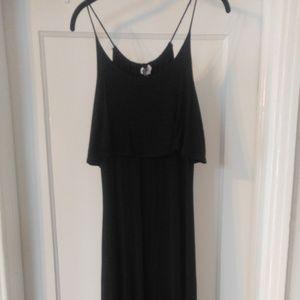 Swell: Black Maxi Dress, Flowy Top Spaghetti Strap